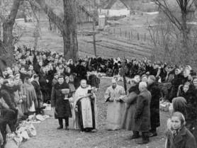 Великодне богослужіння в Ноблі,1959 рік