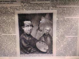 Стторінка «Тигоднікаілюстрованого» з портретом художника