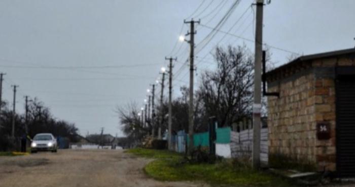 Освітлена вулиця села