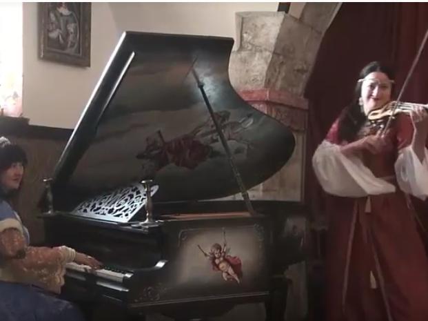 Наталія Горщар у Мукачівському замку