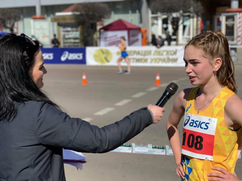 Дарина Касян після переможного фінішу