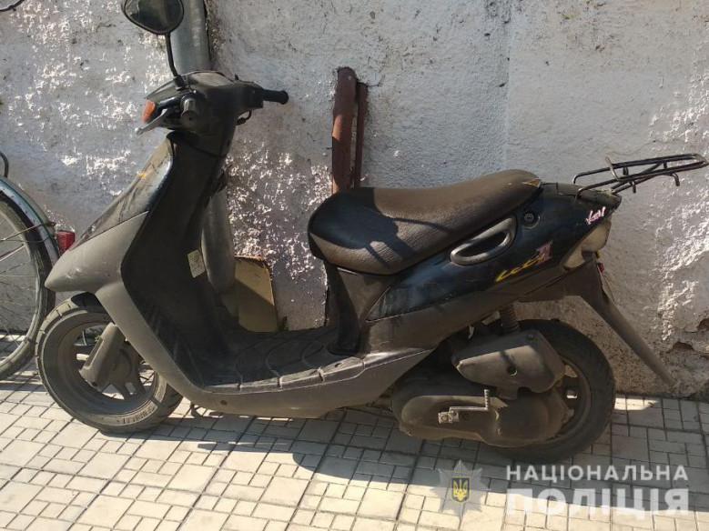 У Любешеві поліція оперативно розшукала викрадачів скутера