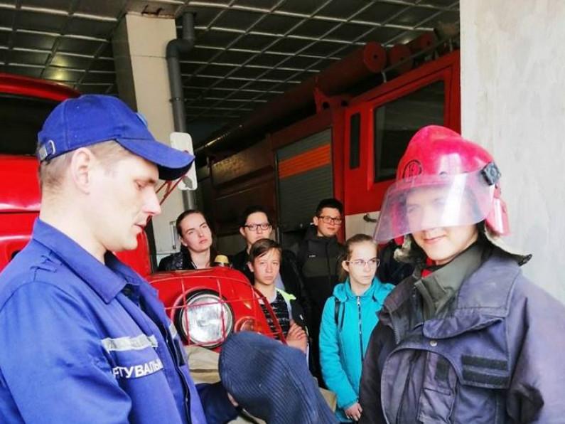 На екскурсії в рятувальників
