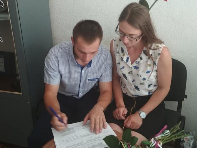 У Любешеві одружилися три пари молодят