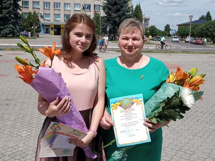 Анна Гриневич зі своєю наставницею