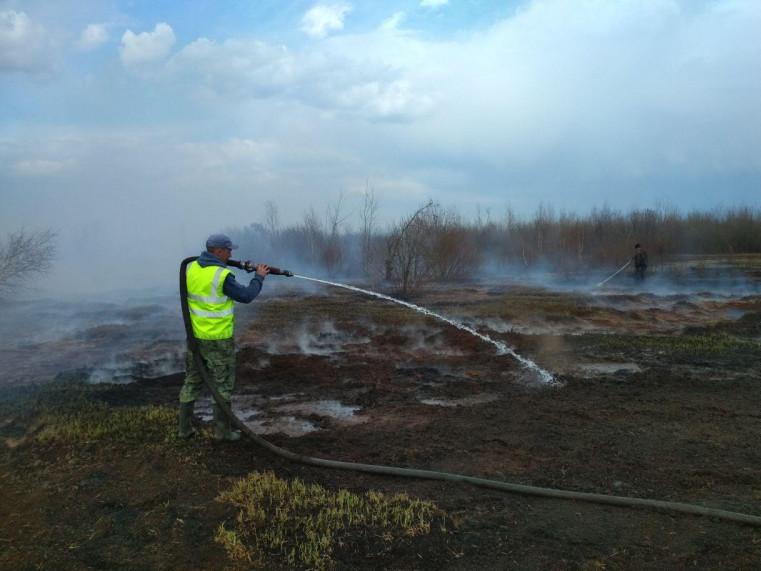 Триває гасіння пожежі