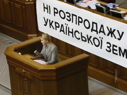 Юлія Тимошенко виступає на підтримку мораторію