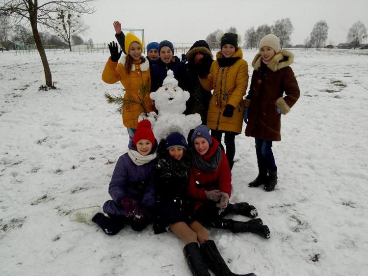 Результат роботи – модний сніговик