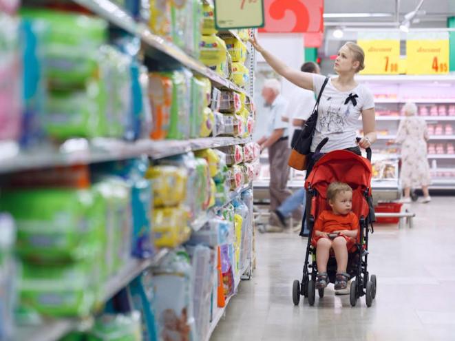 Не у всі магазини можна прийти із дитячими візочками