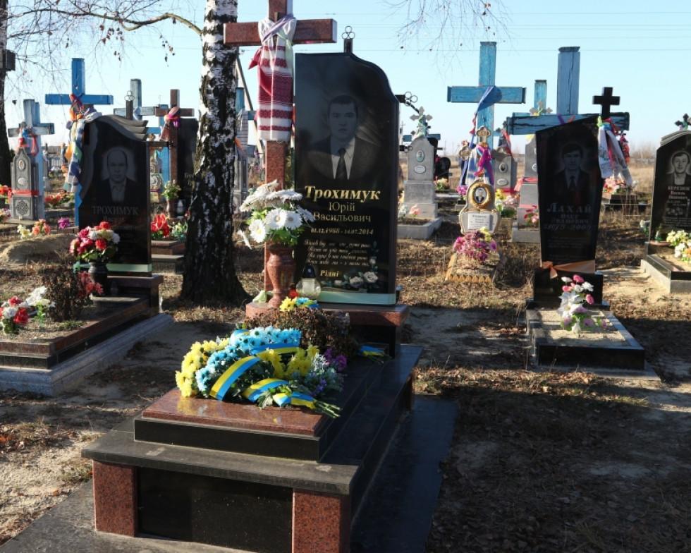 Могила Юрія на сільському кладовищі