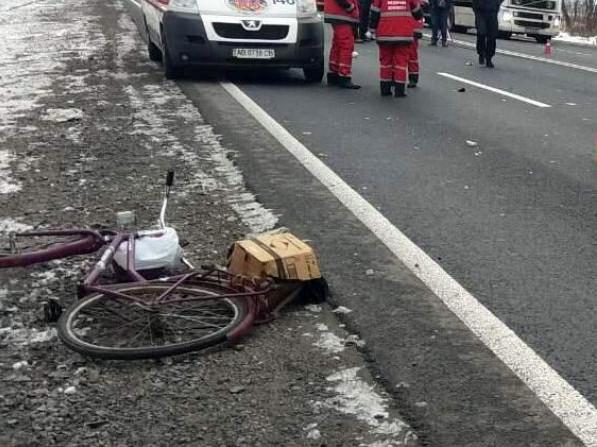 Постраждала велосипедистка