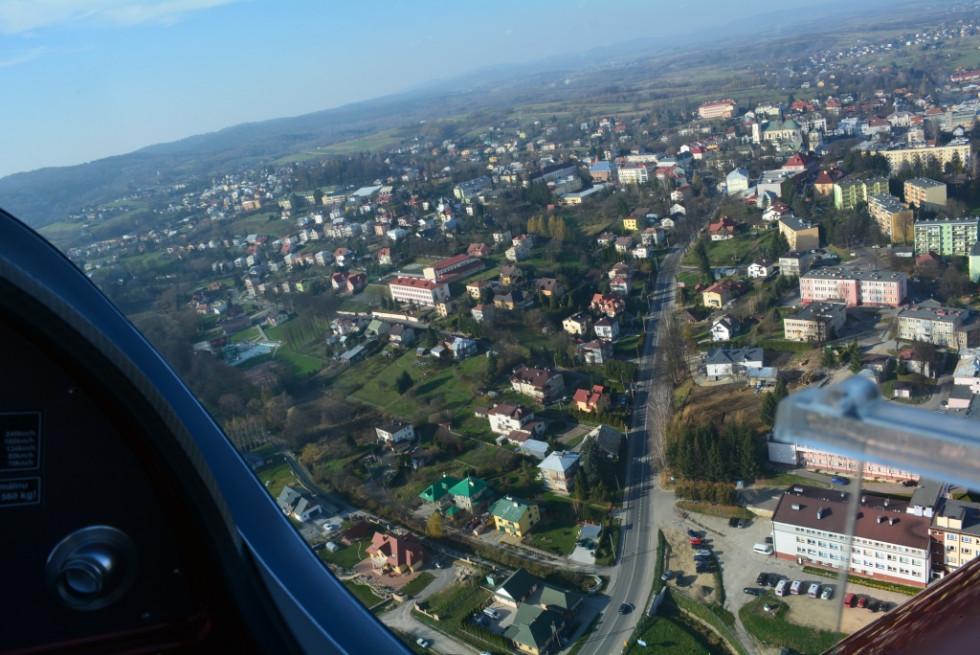 Містечко Бжозув з висоти