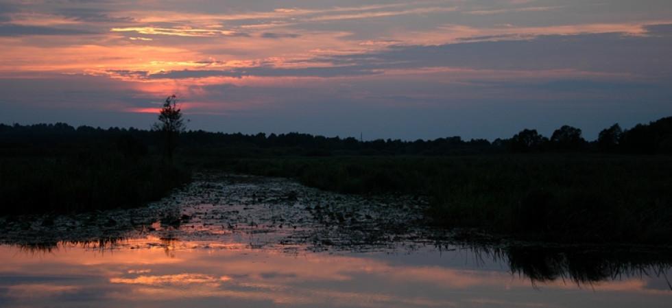 Захід сонця на Стоході