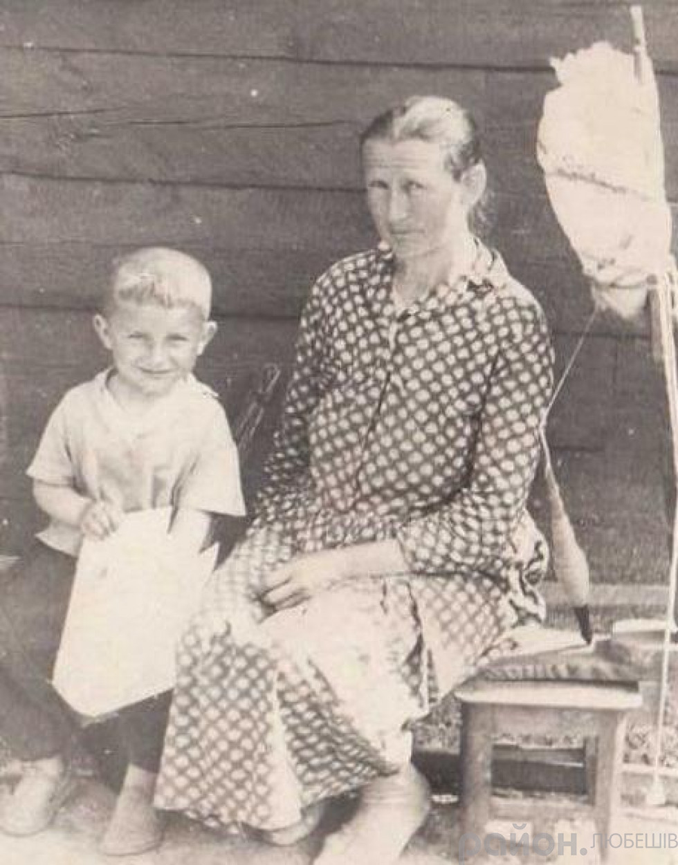 Ганна Вабіщевич із онуком