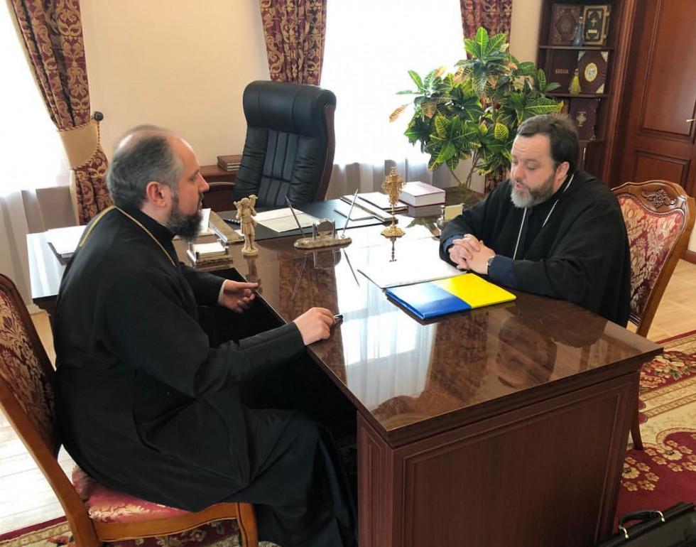Гавриїл (Кризина), єпископ Рівненський і Сарненський на зустрічі з митрополитом Епіфанієм