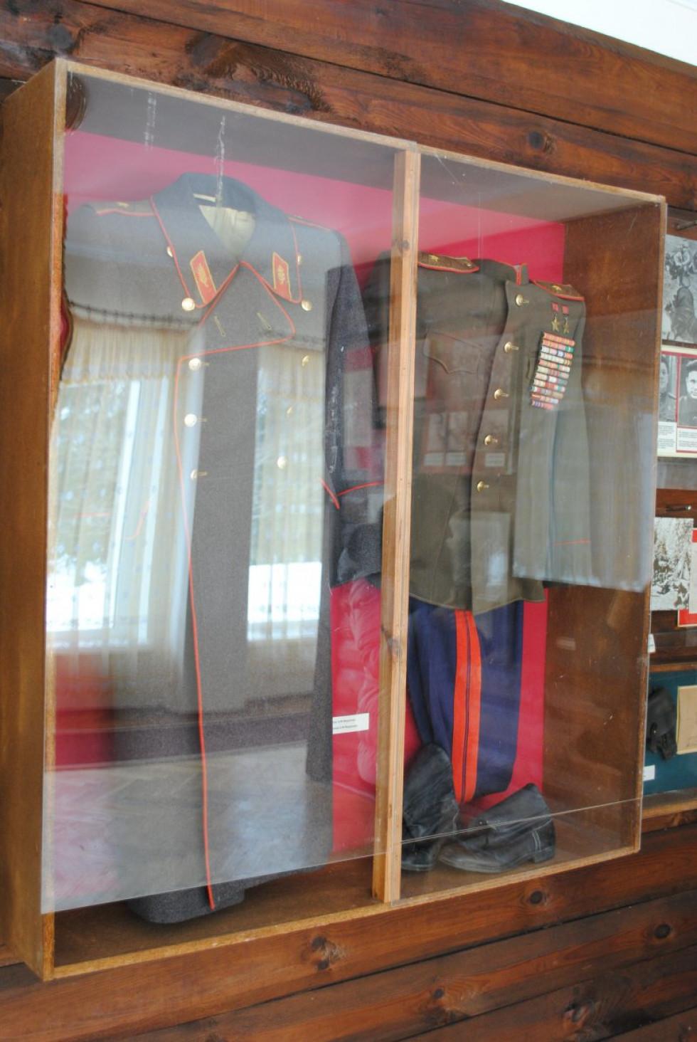 Мундир Федорова в музеї села Лобна