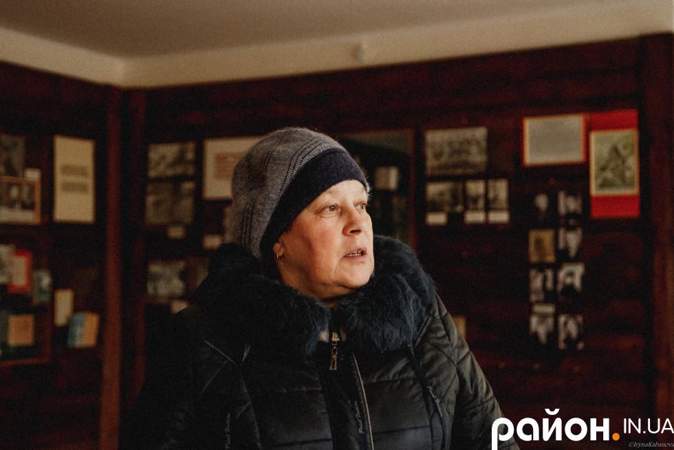 Віра Черевко, яка багато років працює в музеї у Лобні