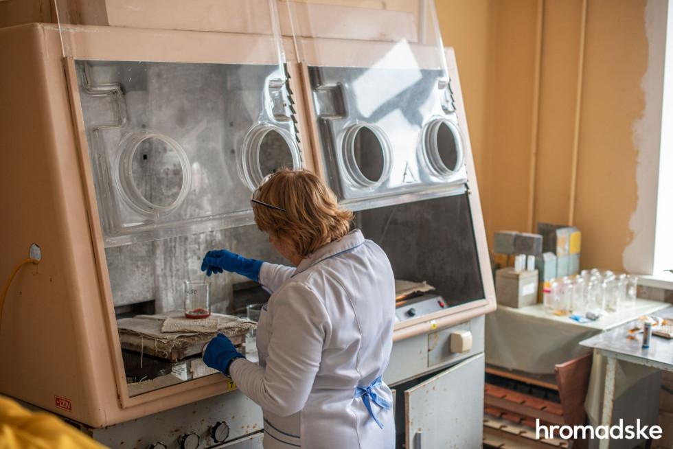 Аналіз води з річки Прип'ять у лабораторії