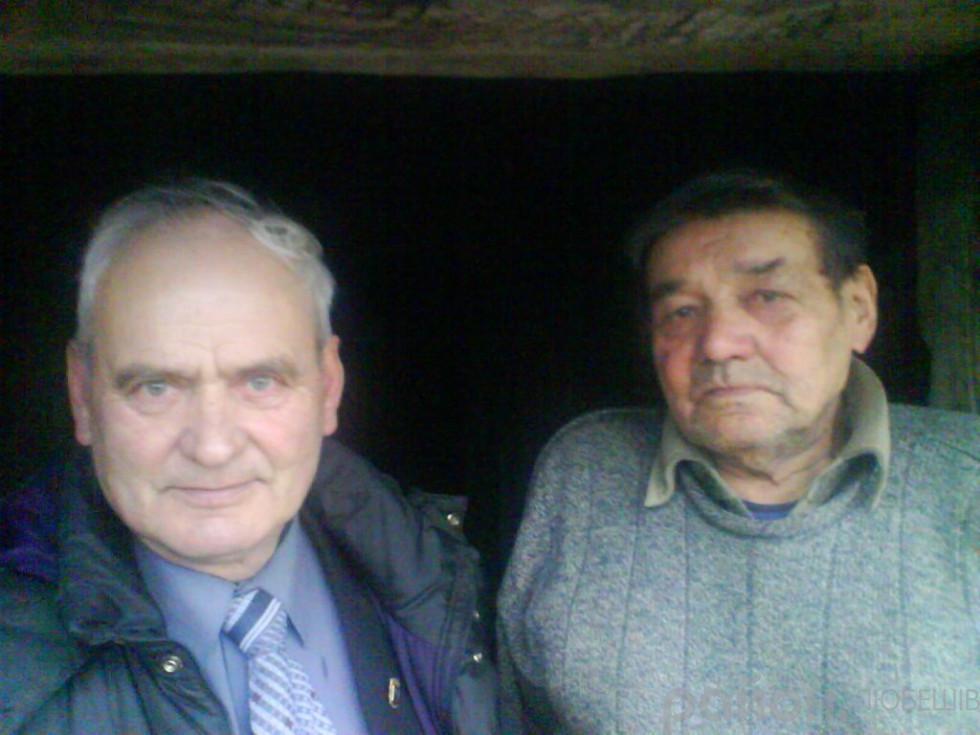 Очільник Волинського братства вояків ОУН-УПА Василь Кушнір і Платон Кравчик