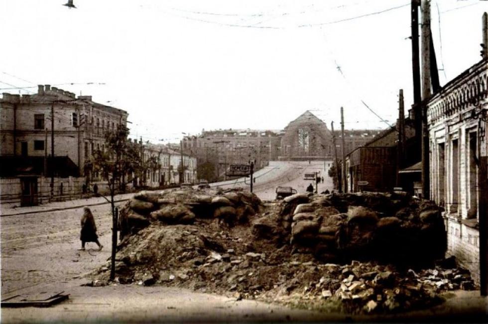 Привокзальна територія. Київ, 1941 рік