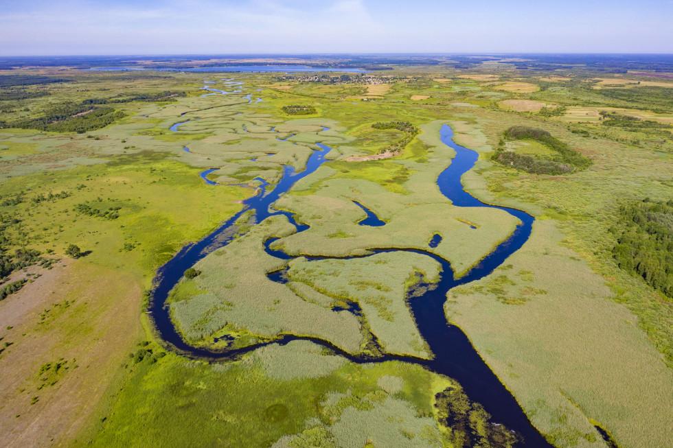 Тутешній ландшафт – це мозаїка з верхових, перехідних і низинних боліт, хвойно-широколистяних лісів і густої річкової сітки, які оперізує Прип'ять